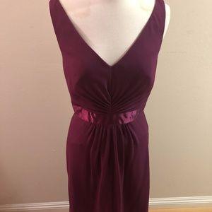 Burgundy Formal Dress from David's Bridal!